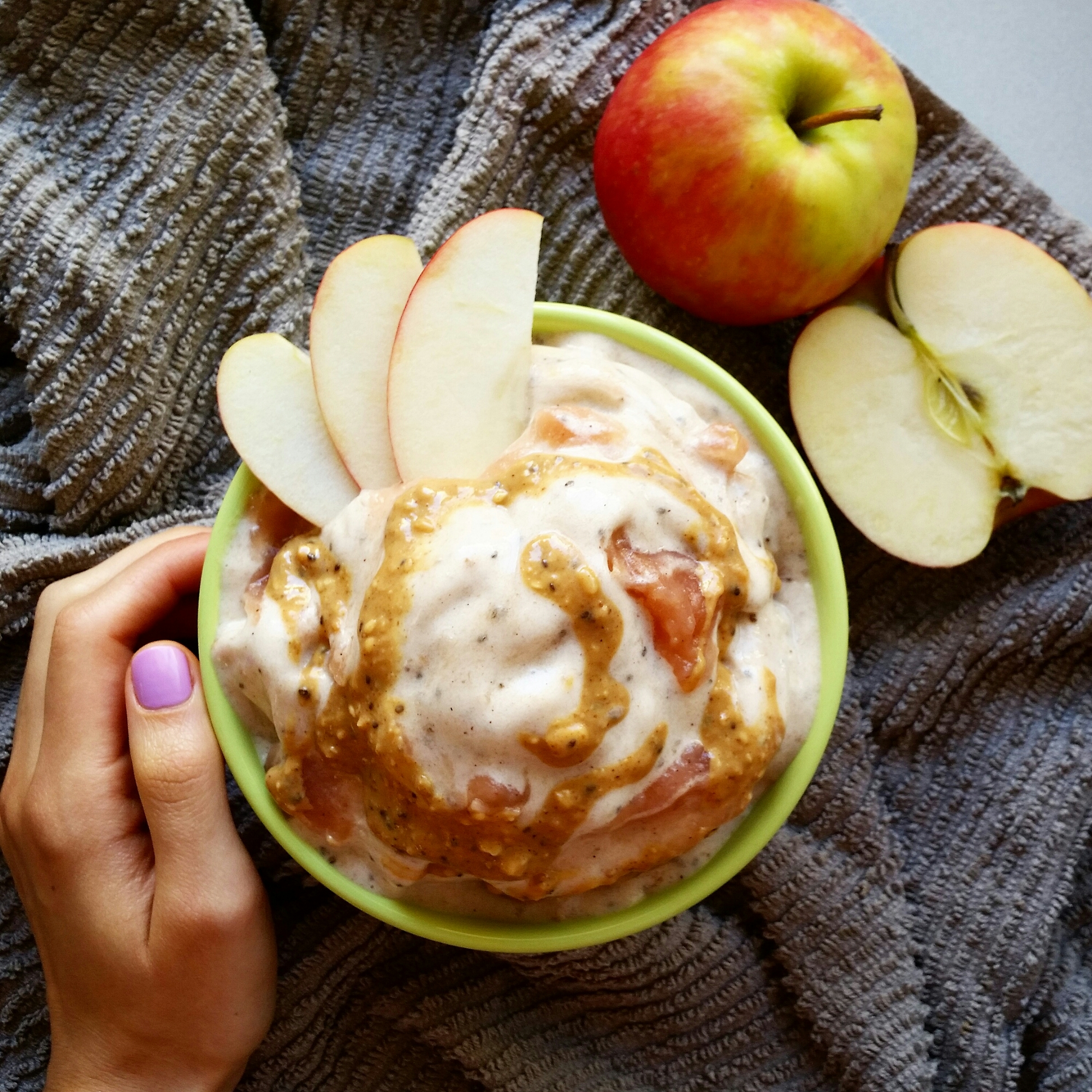 Apple Pie Banana Nicecream